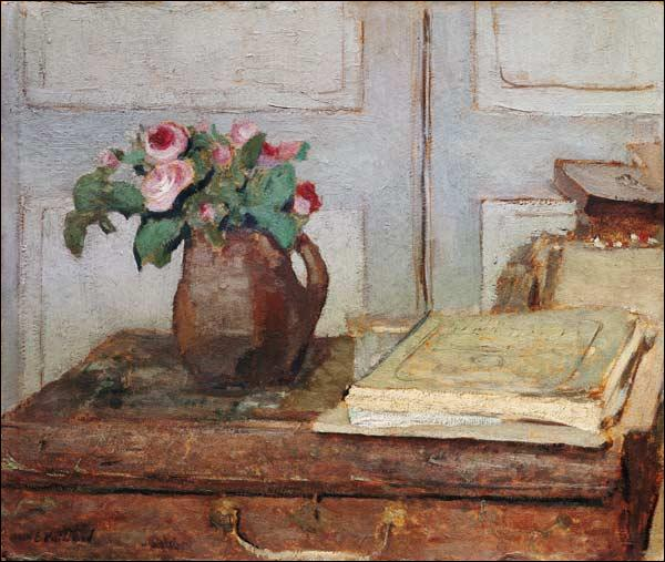 Quel peintre du mouvement nabi, surnommé par ses amis le  nabi zouave , a réalisé cette  Nature morte au vase de roses  ?