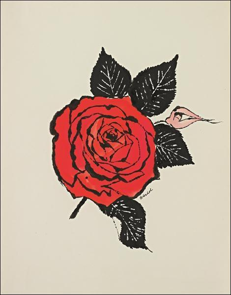A quel artiste, initiateur du mouvement pop art, doit-on   Rose rouge  ?