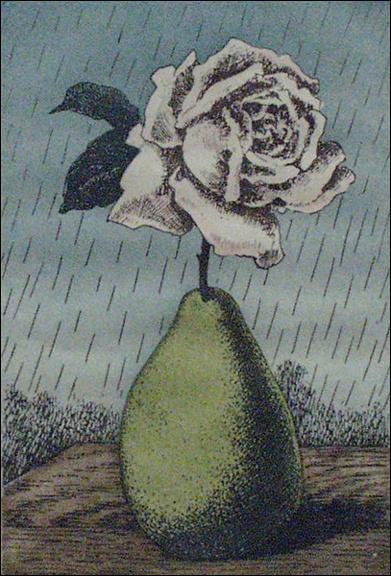 A qui doit-on cette gravure en couleurs intitulée  Les moyens d'existence. Rose et poire  ?