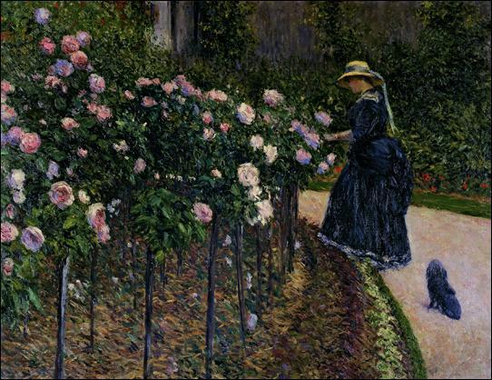 Passionné de navigation, mais aussi d'horticulture, il a représenté ici sa compagne, Charlotte Berthier, dans leur jardin du Petit Genevilliers. Qui est ce peintre ?
