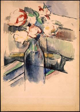 A quel artiste né à Aix-en-Provence, peignant aussi bien à l'huile qu'à l'aquarelle, doit-on  Rose dans une bouteille  ?