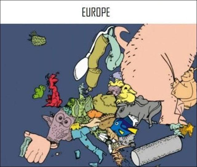 L'Europe redessinée ! Quel pays d'Europe ne fête pas Halloween ?