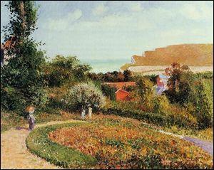 Le jardin de l'hôtel Berneval.