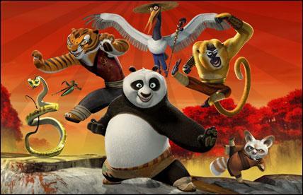 Dans quelle société de production le film d'animation  Kung Fu Panda  a-t-il été réalisé ?
