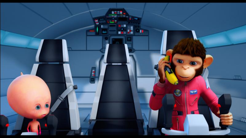 Dans quelle société de production le film d'animation  Les Chimpanzés de l'Espace 2  a-t-il été réalisé ?