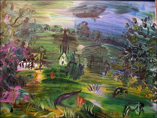 Qui a peint Maisons avec bétail ?