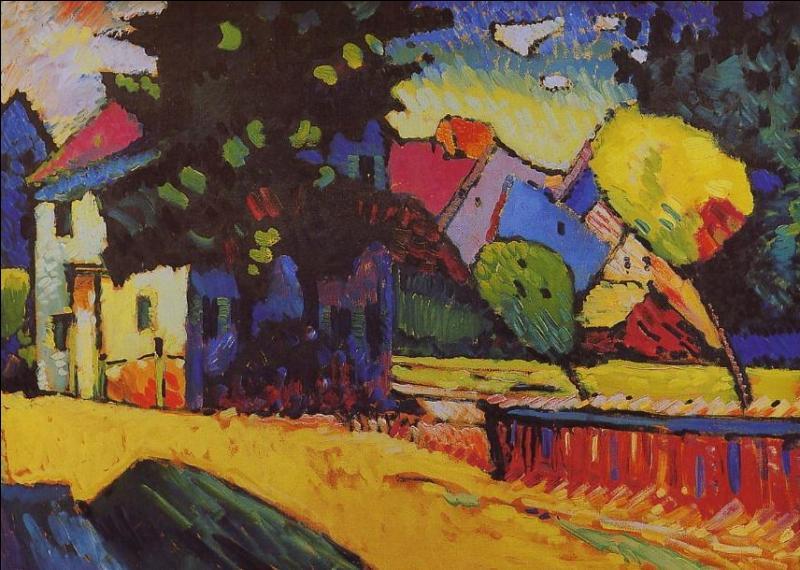 Qui a peint Paysage avec une maison verte ?
