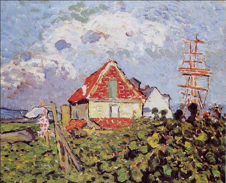 Qui a peint cette maison au toit rouge ?