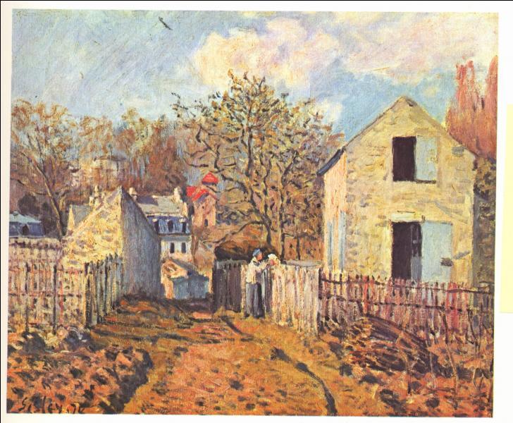 Qui a peint La maison des Voisins à Louveciennes ?