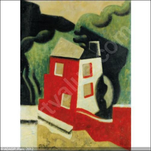 Qui a peint Maison rouge et blanche ?