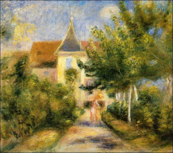 Qui a peint Le jardin et la maison du peintre vue de l'atelier ?