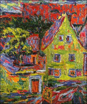 Qui a peint Paysage avec maison ?