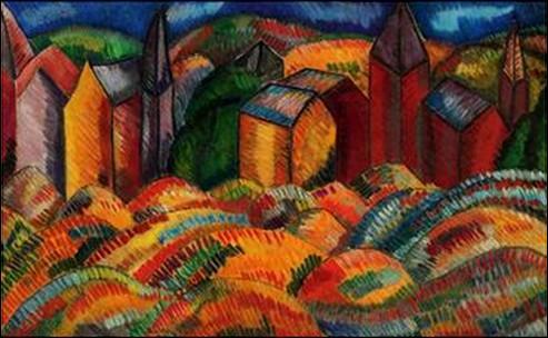 Qui a peint Les maisons rouges de Sainte-Adresse ?