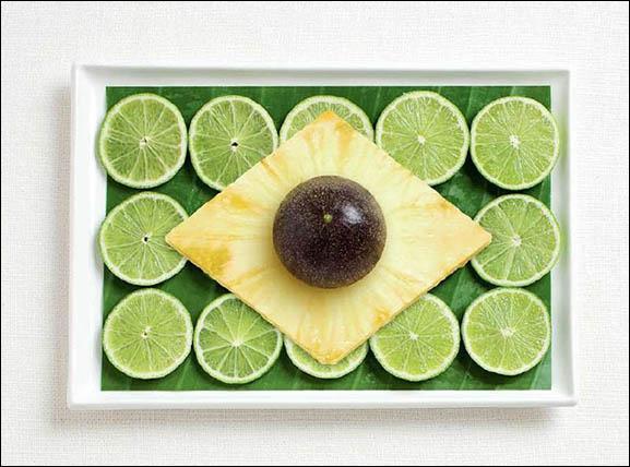 Ce drapeau est fait à base d'une feuille de bananier citron, des ananas et un fruit de la passion. Quel pays représente-t-il ?