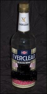 Que peut-on trouver dans l'Everclear ? (Jusqu'à 95% d'alcool ! )