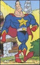 """Dans ''Le ciel lui tombe sur la tête"""", Superclone prend les traits d'Arnold Schwarzenegger qui, après avoir été Conan le Barbare, est devenu gouverneur..."""