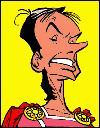 Caius Saugrenus est un Romain dans ''Obélix et Compagnie'' . De quel président français (jeune) est-il la caricature ?