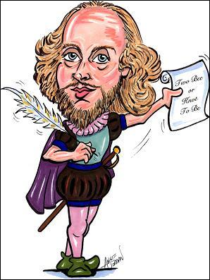 Goethe disait de lui :   ... ... .....   est le poète aux mille âmes.  Le roi Lear ,   Les joyeuses commères de Windsor  sont parmi ses nombreuses oeuvres.