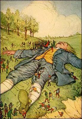 Son nom est surtout associé à un conte :   Les voyages de Gulliver   en 1726.