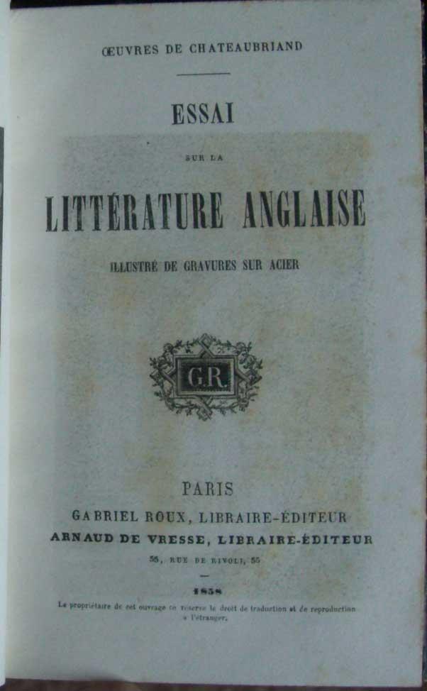 Les auteurs anglais