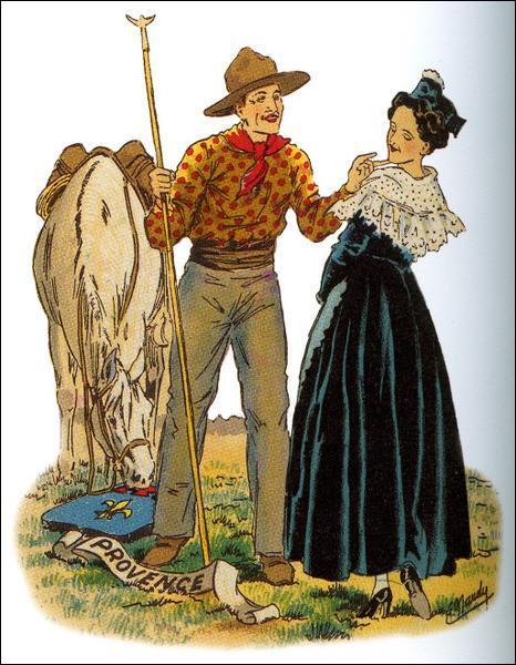 Vers les années 20, un costume particulier de ces cavaliers apparut pour les fêtes. Comment était désignée l'étoffe du pantalon ?