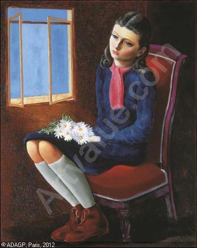 Qui a peint Jeune fille assise aux marguerites ?