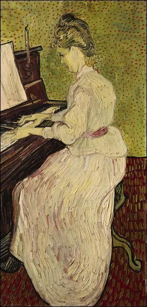 Qui a peint Marguerite Gachet au clavier ?