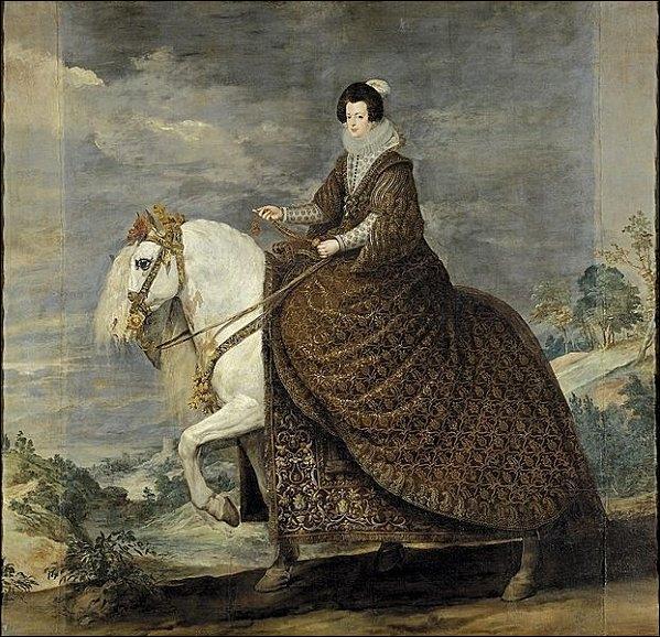 Qui a peint Portrait équestre de la reine Marguerite d'Autriche ?