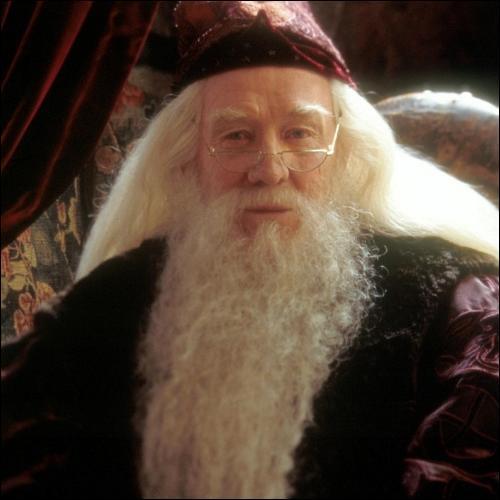 Ah, la musique, elle est plus magique que tout ce que nous pourrons jamais faire dans cette école.   Que fait Dumbledore pendant qu'il dit ça ?