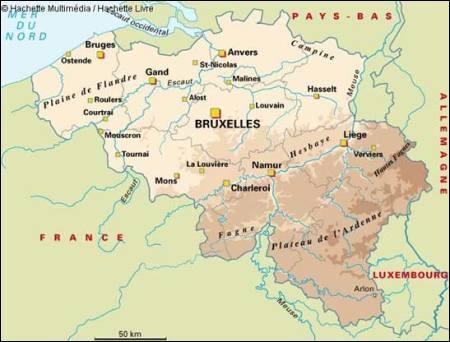 La Belgique partage sa plus longue frontière avec la France. Quels sont les 5 départements français limitrophes de la Belgique ?