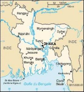 Quel fleuve rejoint le Brahmapoutre pour former un vaste delta ?