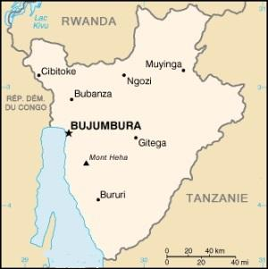 Sur la rive de quel lac se situe la capitale du Burundi, Bujumbura ?