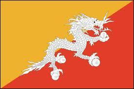 Quel état d'Asie possède un drapeau sur lequel figure un dragon ?