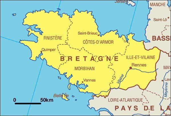 Dans quel département se situe le chef-lieu de la région Bretagne ?