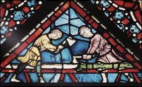 Que font ces gens sur ce vitrail de la cathédrale de Chartres ?