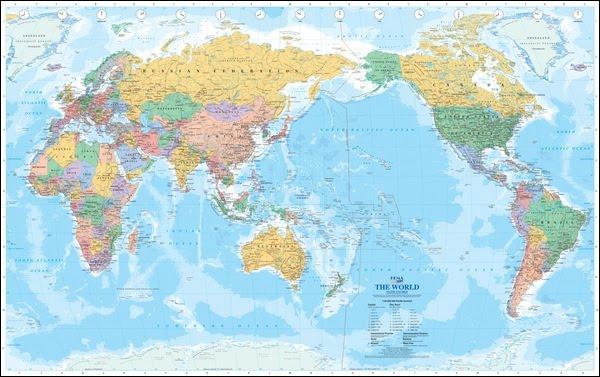 Les cartes australiennes ne sont pas centrées comme chez nous sur l'Europe (européano-centrées) mais sur l'Océanie et notamment l'Australie. Comment appelle t-on ce type de projection ?