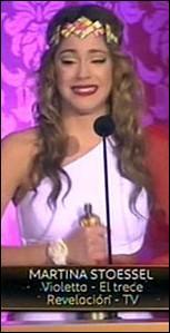 À quelle cérémonie Martina a-t-elle gagné un prix ?