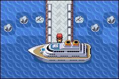 Sacha fait son premier échange de Pokémon sur un bateau. Quel est son nom ?