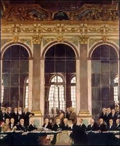 Quelle est la date et l'année du traité de Versailles, qui met avec ce traité de paix définitivement fin à la 1ère Guerre mondiale ?