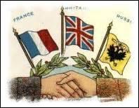 Comment était appelé l'accord signé entre l'Empire russe, l'Empire britannique et la France ?