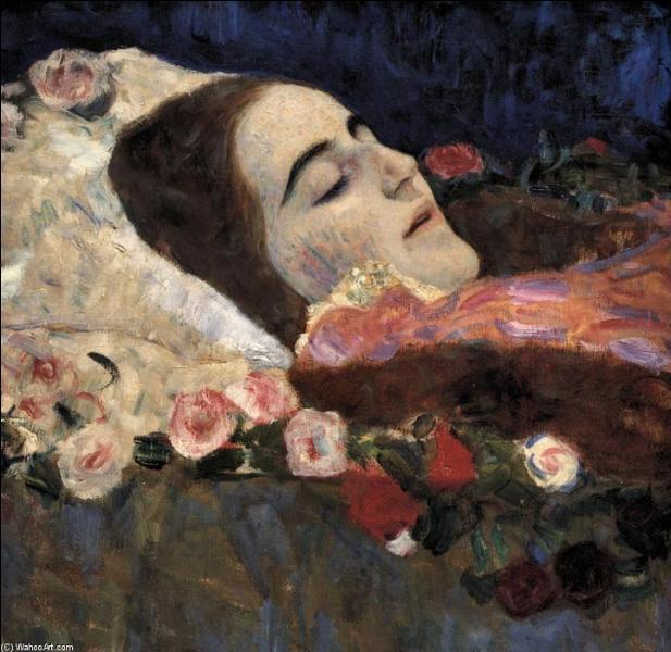 Ria Munk sur son lit de mort.