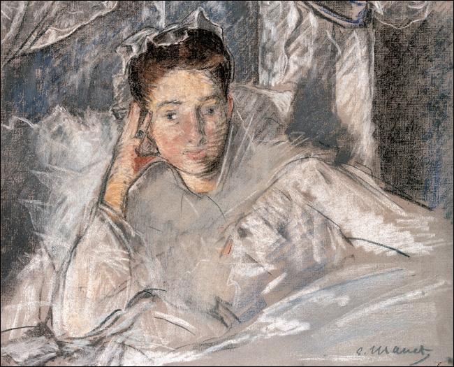 Madame Loubens au lit.