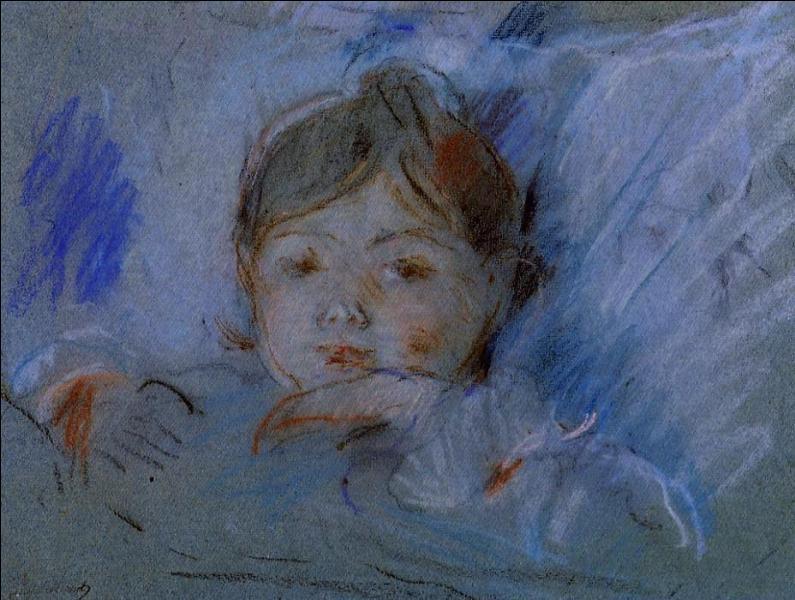 Enfant au lit.
