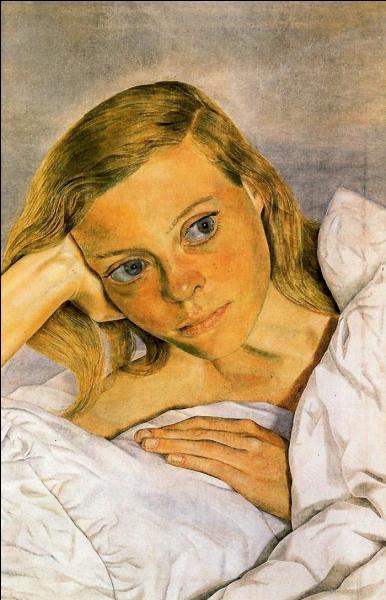 Jeune femme au lit.