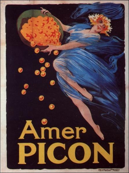 Voici une affiche qui fait la réclame pour  Picon , c'est à dire :