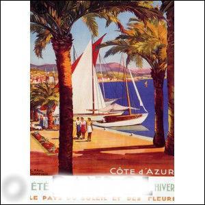 La ville représentée sur cette affiche ancienne est située entre Toulon et Marseille, elle est connue pour le vin qui porte son nom :