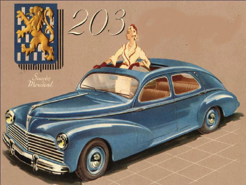 Quelle firme automobile est représentée par cette affiche ancienne ?