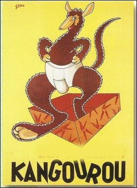 Cette affiche fait la réclame pour  Kangourou , de quoi s'agissait-il ?