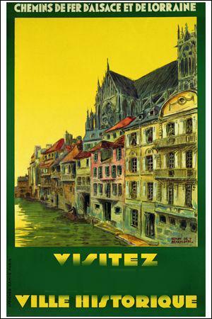 A quelle ville dont on connaît la Porte Serpenoise, appartient cette affiche ?