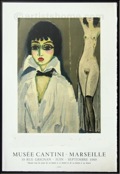 De quel peintre sont les toiles exposées au Musée Cantini, dont cette affiche fait la promotion ?